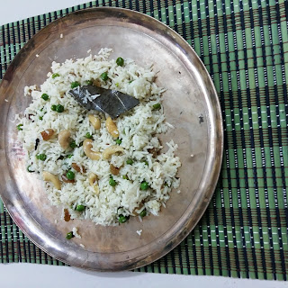 Peas Pulao with Bengali touch - Pure Veg