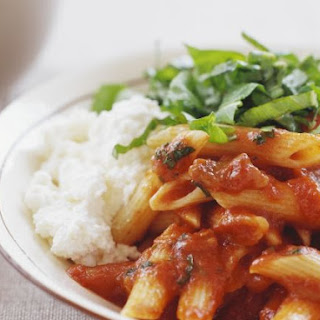 Tomato Penne with Ricotta