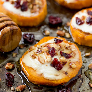 Sweet Potato Rounds with Goat Cheese
