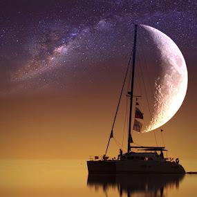 On the boat  by Dunja Milosic Odobasic - Digital Art Places (  )