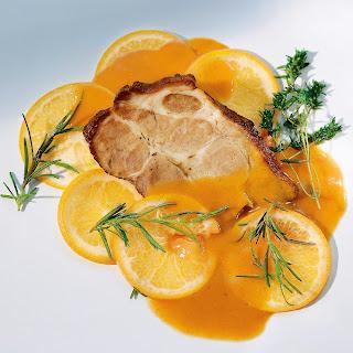 Schweinebraten mit Sherry-Orangen-Sauce