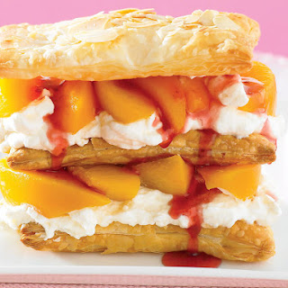 Raspberry Peach Mille-Feuille.
