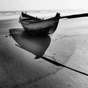 SURFACE AND INNER REALITY by Sayan Bhattacharya - Artistic Objects Other Objects ( mono-tone, b&w, black and white, black and white collection, b and w, monotone, landscape )