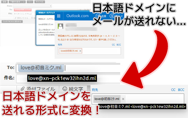 Japanese Domain Email Enabler
