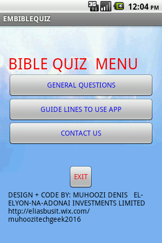BibleQuiz screenshot 1