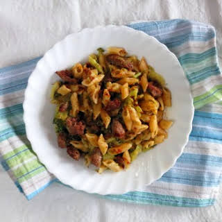 Pasta with Broccoli & Sausage - Pressure Cooker One Pot Meal.