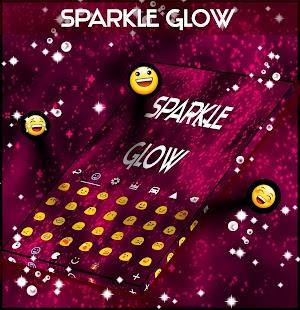 Sparkle Glow Keyboard Theme - náhled