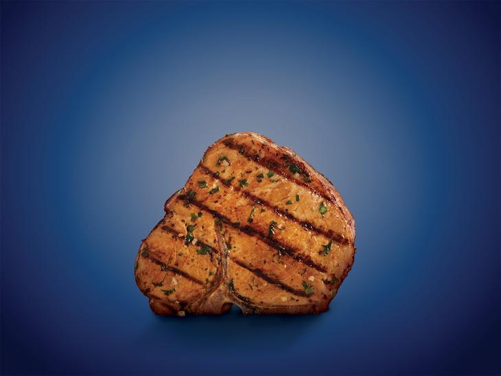 Basil-Garlic Porterhouse Pork Chops Recipe