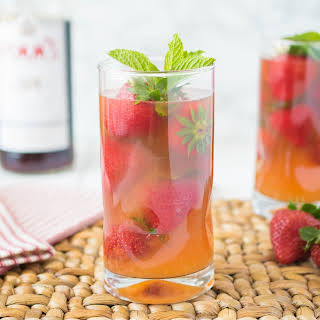 Pimm's Strawberry Mint Cocktail.