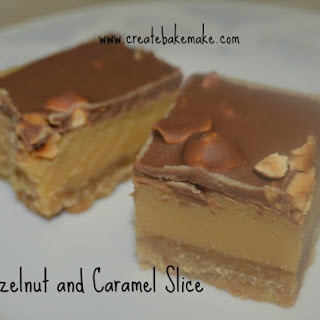 Hazelnut and Caramel Slice