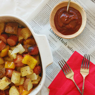 Hearty Low Calorie Sausage and potatoes