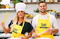 Charlotte Crosby takes on Chris Hughes in baking challenge