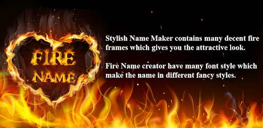 Name Fire Text Name Art app (apk) free download for Android