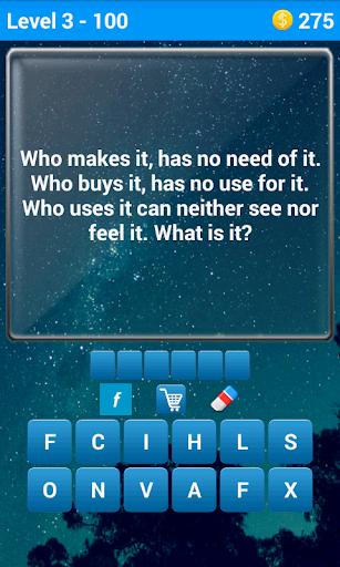 Just riddles. 100 riddles