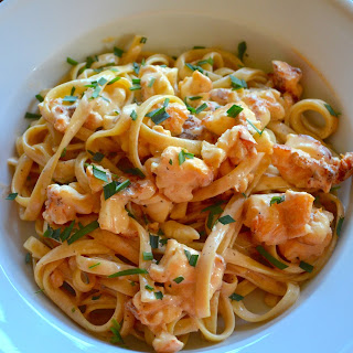 Linguine with Lobster-Tarragon Sauce.