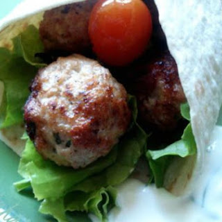 Turkey Meatballs Tortilla Wrap