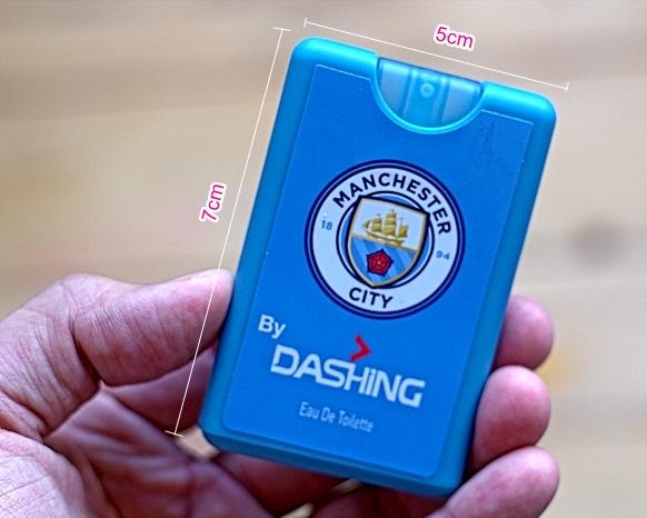 Saiz Dashing Anytime 18 ml ini bersaiz sebesar kredit kad