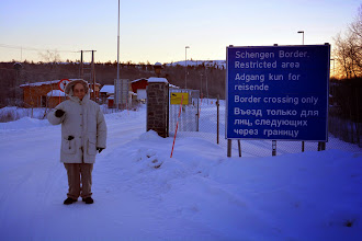 Photo: And we arrive at the Border - the Norwegians can get a visa good for a year.