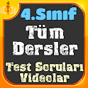 4. Sınıf Tüm Dersler Testleri ve Konu Videoları icon