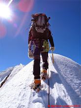 Photo: Lor_DSC00172 io sulla cresta nevosa della Suldengrat