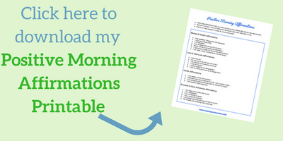 Positive Morning Affirmations Printable