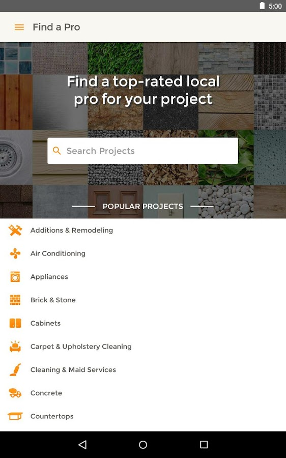 HomeAdvisor Home Contractors- screenshot