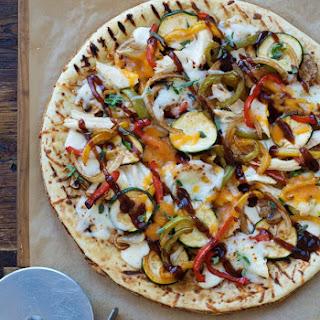 Grilled BBQ Chicken Pizza.