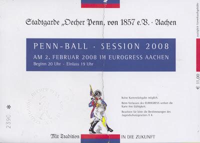 Eintrittskarte vom Penn-Ball