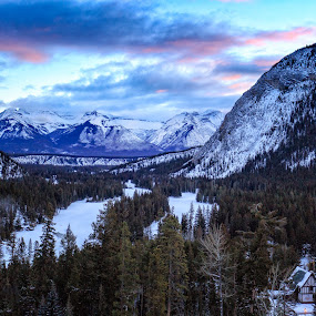 Out the Window at the Fairmont Hotel by Robert Gallucci - Landscapes Mountains & Hills ( mountains, view from our room, amazing views, morning glory, fairmont hotel, sunrise, morning, banff )
