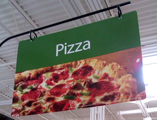 Photo: After making our way out of the toys (I make my mom go to the baby or toys department every time we're in Walmart) we headed to the grocery department. We always start at the back of the store. This Walmart has the dairy and frozen foods at the back so I quickly found myself at the frozen pizza aisle!