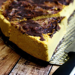 Vegan No-Bake Chocolate Marbled Pumpkin Cheesecake (Vegan, Gluten-Free, Dairy-Free, Egg-Free, Paleo-Friendly, No-Bake, No Refined Sugar)