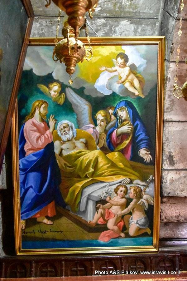 Икона Иосиф Обручник на Смертном одре. Церковь Успения Богородицы, Иерусалим.