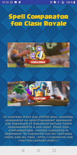 Spell Comparator Clash Royale  astuce 1