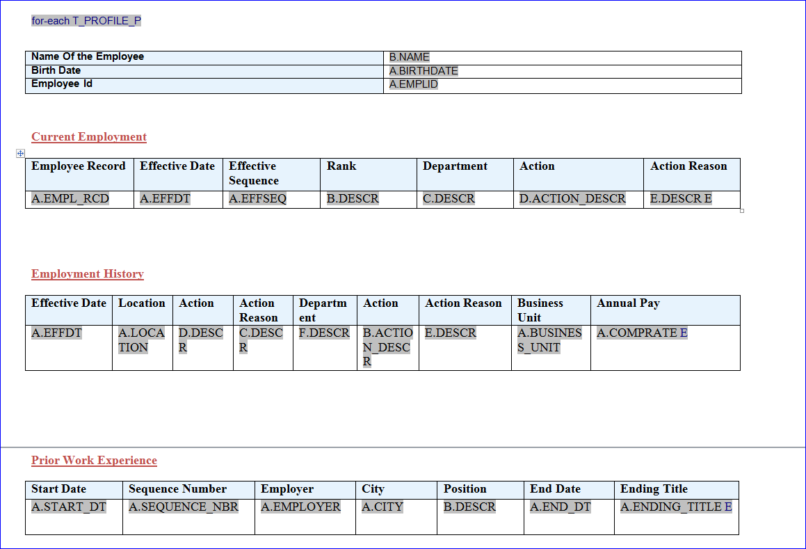 Peoplesoft creating reports with peoplesoft bi publisherxml peoplesoft creating reports with peoplesoft bi publisherxml publisher and connected query baditri Images