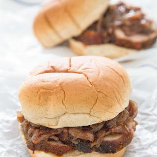 Pork Tenderloin & Onion Jam Sandwiches.