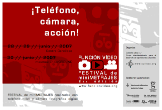 Photo: FUNCIÓN VÍDEO - miniFILM Festival 2007. The first film festival in Spain to promote the use of mobile devices and digital cameras for short film productions. Watch the best miniFILMS on Vimeo Channel: https://vimeo.com/channels/funcionvideo