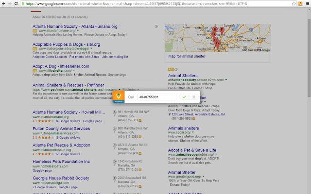 Google Chrome Click-To-Dial