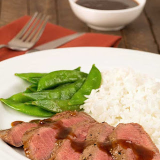 Grilled Flat Iron Steak with Orange-Hoisin Sauce
