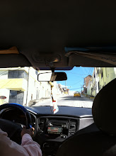 Photo: Crazy cab ride, Old Town Quito.  You can't tell but this climb is extremely steep!!
