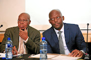 FILE: Joe Thloloe  and SABC  board chairperson Bongumusa Makhathini at a commission of inquiry into editorial  interference  at  the public broadcaster.