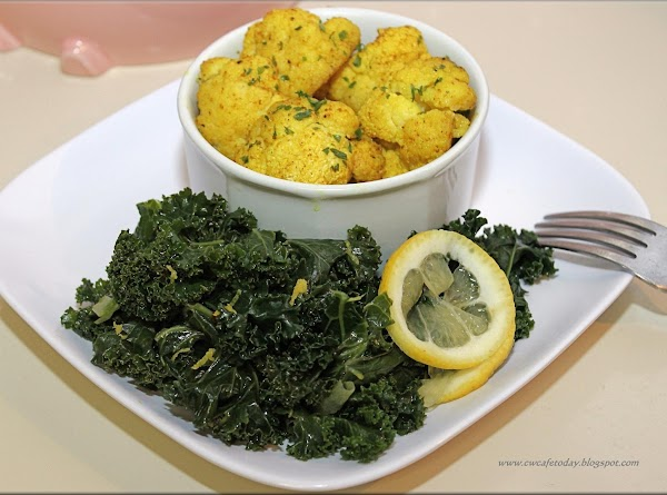 How about serving this with another healthy veggie? Lemon Pepper Kale.  Enjoy♥