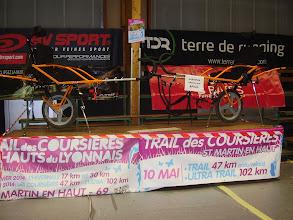 Photo: Nos 2 joëlettes, qui seront en action le samedi 10 mai 2014 pour le Trail des Coursières