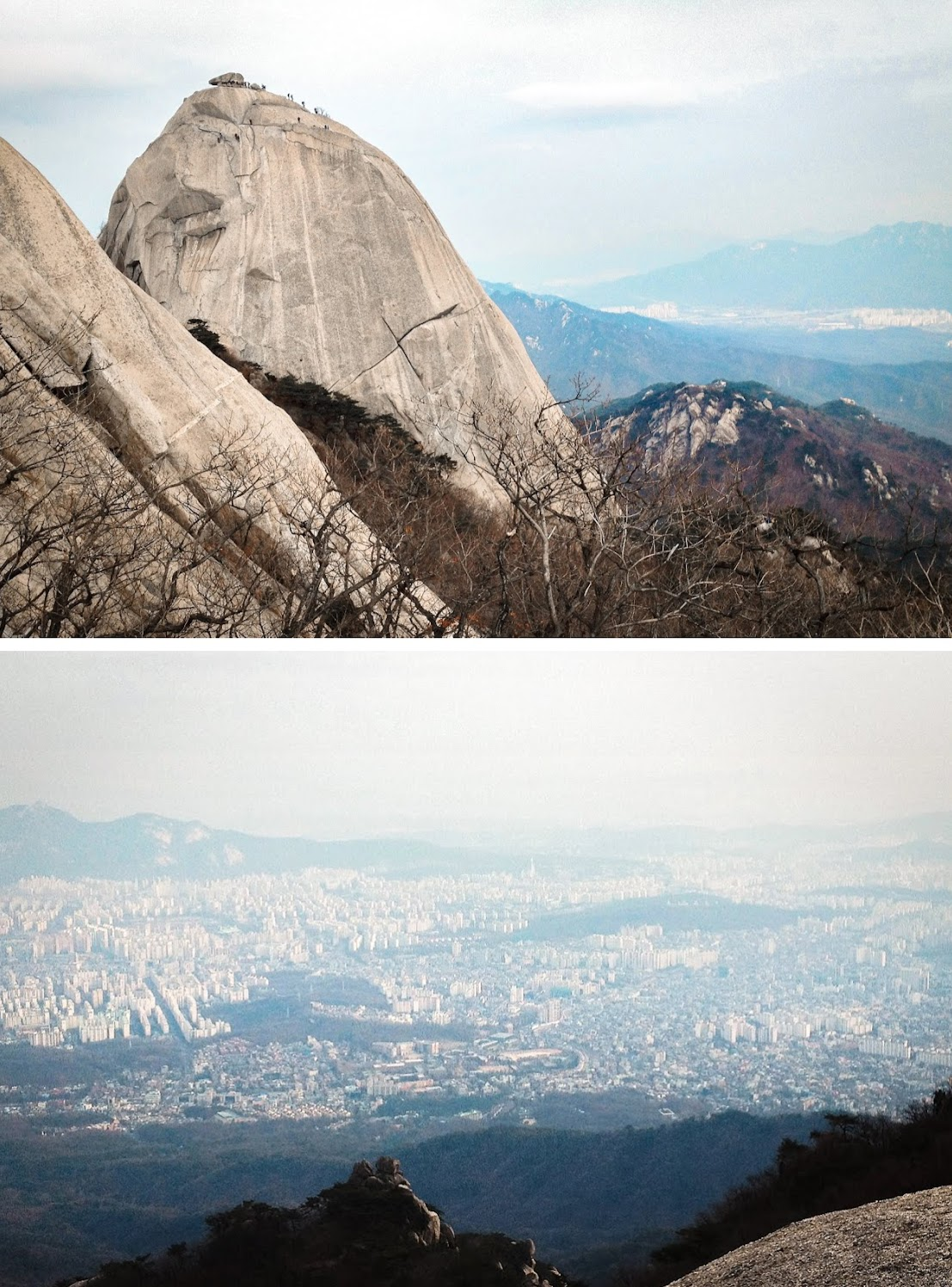 View of Seoul from Bukhansan