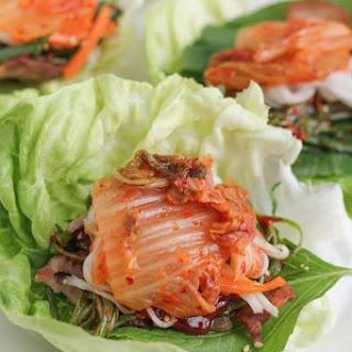 Pork Belly Lettuce Wraps.