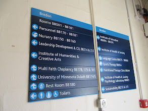 Photo: List of offices in Bredon Building, St. John's Campus, University of Worcester