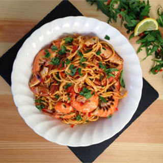 King Prawn and Crab Spaghetti