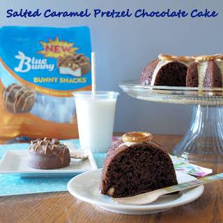 Salted Caramel Pretzel Chocolate Cake.