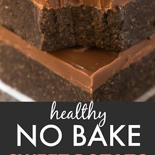 Healthy No Bake Sweet Potato Breakfast Brownies.