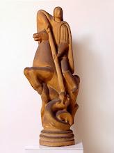 Photo: Arturo Martini, La leggenda di San Giorgio (Trilogia dei re), 90 x 45 cm, Terracotta da stampo grezza, 1926-27