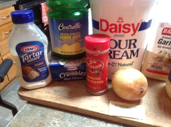 These are some of the ingredients used to make this tasty dipping sauce.